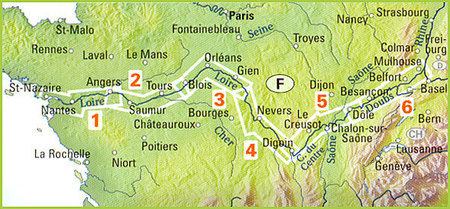 EUROVELO 6 BAZYLEA - ATLANTYK komplet map rowerowych 1:100 000 HUBER (2)