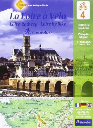 EUROVELO 6 BAZYLEA - ATLANTYK komplet map rowerowych 1:100 000 HUBER (5)