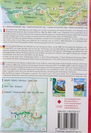 EUROVELO 6 BAZYLEA - ATLANTYK komplet map rowerowych 1:100 000 HUBER (9)