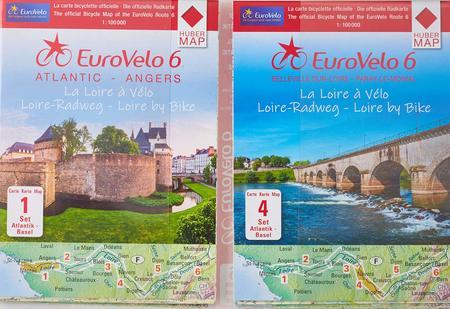 EUROVELO 6 BAZYLEA - ATLANTYK komplet map rowerowych 1:100 000 HUBER (10)