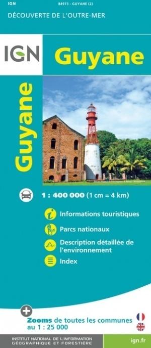 GUJANA / GUJANA FRANCUSKA mapa 1:400 000 IGN (1)