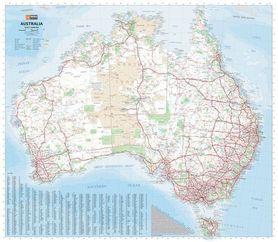 AUSTRALIA mapa administracyjno - drogowa HEMA