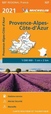 PROWANSJA / ALPY / LAZUROWE WYBRZEŻE mapa 1:200 000 MICHELIN 2021 (1)