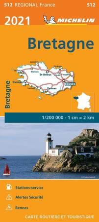 BRETANIA mapa 1:200 000 MICHELIN 2021 (1)