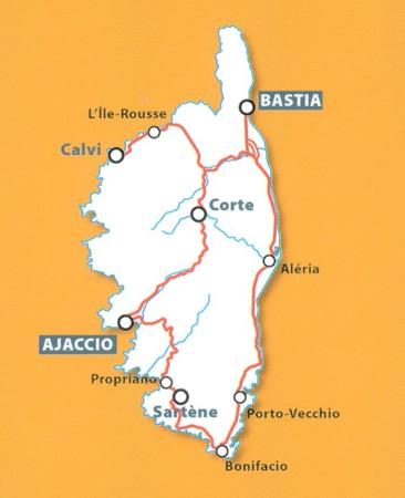 KORSYKA mapa 1:200 000 MICHELIN 2021 (2)