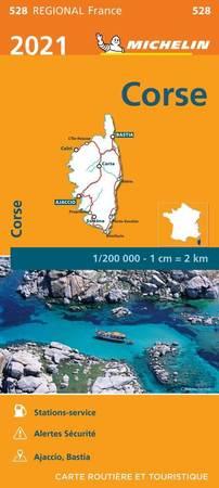 KORSYKA mapa 1:200 000 MICHELIN 2021 (1)