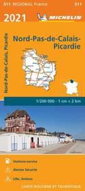 NORD-PAS-DE-CALAIS I PIKARDIA mapa 1:200 000 MICHELIN 2021