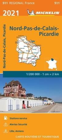 NORD-PAS-DE-CALAIS I PIKARDIA mapa 1:200 000 MICHELIN 2021 (1)