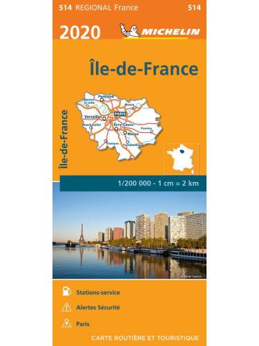 ILE-DE-FRANCE / REGION PARYSKI mapa 1:200 000 MICHELIN 2021 (1)