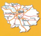 ILE-DE-FRANCE / REGION PARYSKI mapa 1:200 000 MICHELIN 2021 (4)