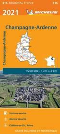 SZAMPANIA ARDENY mapa 1:200 000 MICHELIN 2021