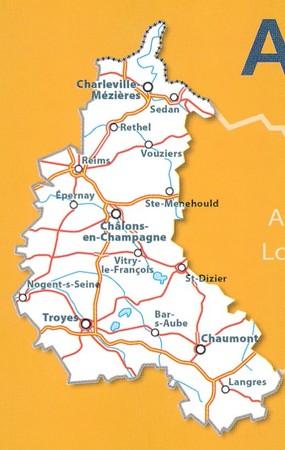 SZAMPANIA ARDENY mapa 1:200 000 MICHELIN 2021 (3)