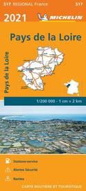 KRAJ LOARY mapa 1:200 000 MICHELIN 2021