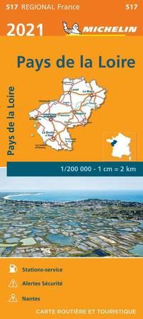 KRAJ LOARY mapa 1:200 000 MICHELIN 2021 (1)