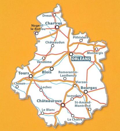 REGION CENTRALNY CENTRE mapa 1:200 000 MICHELIN 2021 (3)