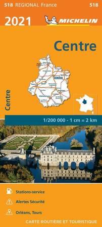 REGION CENTRALNY CENTRE mapa 1:200 000 MICHELIN 2021 (1)