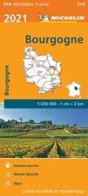 BURGUNDIA mapa 1:200 000 MICHELIN 2021