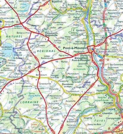 FRANCHE-COMTE mapa 1:200 000 MICHELIN 2021 (2)