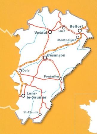 FRANCHE-COMTE mapa 1:200 000 MICHELIN 2021 (4)