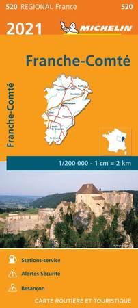 FRANCHE-COMTE mapa 1:200 000 MICHELIN 2021 (1)