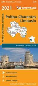 POITOU-CHARENTE - LIMOUSIN mapa 1:200 000 MICHELIN 2021