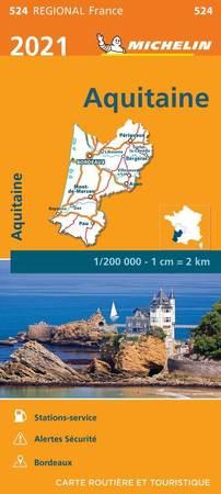 AKWITANIA mapa 1:200 000 MICHELIN 2021 (1)