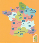 AKWITANIA mapa 1:200 000 MICHELIN 2021 (3)