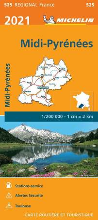 MIDI-PYRENEES mapa 1:200 000 MICHELIN 2021 (1)