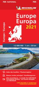 EUROPA mapa 1:3 000 000 MICHELIN 2021