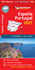HISZPANIA PORTUGALIA mapa wodoodporna 1:1 000 000 MICHELIN 2021 (1)