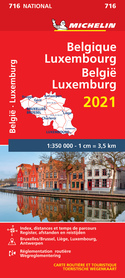 BELGIA LUKSEMBURG mapa samochodowa 1:350 000 MICHELIN 2021