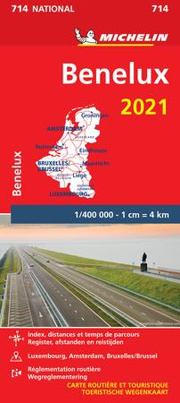 KRAJE BENELUKSU mapa 1:400 000 MICHELIN 2021 (1)
