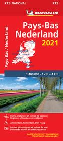 HOLANDIA NIDERLANDY mapa 1:400 000 MICHELIN 2021