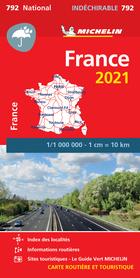 FRANCJA mapa wodoodporna 1:1 000 000 MICHELIN 2021