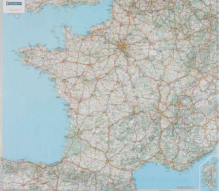 FRANCJA mapa wodoodporna 1:1 000 000 MICHELIN 2021 (3)