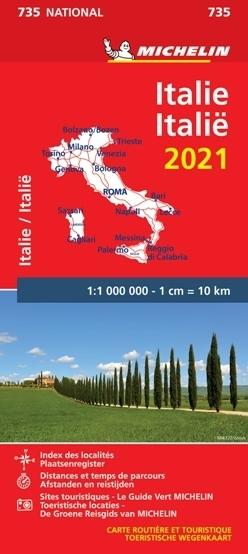 WŁOCHY mapa 1:1 000 000 MICHELIN 2021