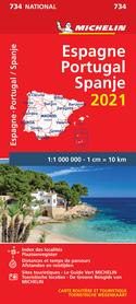 HISZPANIA PORTUGALIA mapa 1:1 000 000 MICHELIN 2021