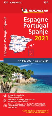 HISZPANIA PORTUGALIA mapa 1:1 000 000 MICHELIN 2021 (1)