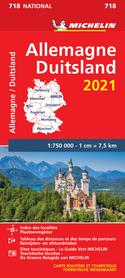 NIEMCY mapa 1:750 000 MICHELIN 2021