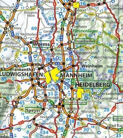 NIEMCY mapa 1:750 000 MICHELIN 2021 (2)
