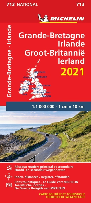 WIELKA BRYTANIA IRLANDIA mapa 1:1 000 000 MICHELIN 2021 (1)