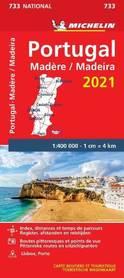PORTUGALIA MADERA mapa 1:400 000 MICHELIN 2021