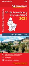 LUKSEMBURG mapa samochodowa 1:150 000 MICHELIN 2021
