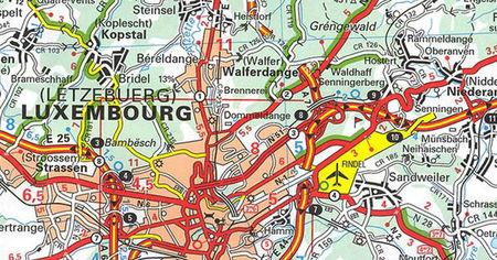 LUKSEMBURG mapa samochodowa 1:150 000 MICHELIN 2021 (2)