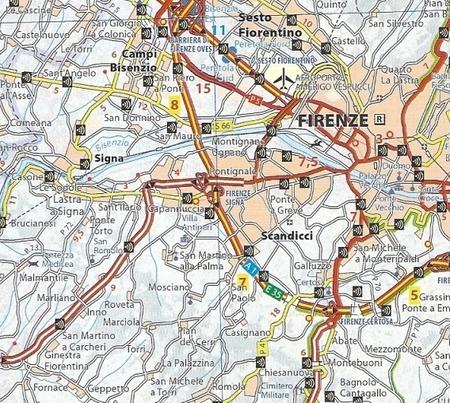 WŁOCHY atlas samochodowy 1:300 000 MICHELIN 2021 (2)