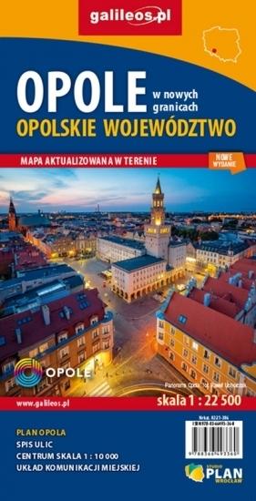 OPOLSKIE mapa 1:190 000 OPOLE plan miasta STUDIO PLAN 2021 (2)