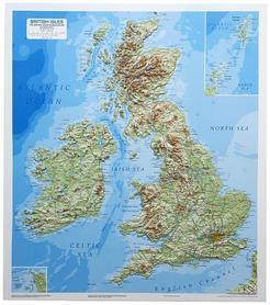 WYSPY BRYTYJSKIE mapa plastyczna DORRIGO
