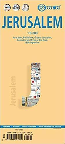 JEROZOLIMA BETLEJEM IZRAEL ŚRODKOWY mapa laminowana 1:8 000 BORCH 2020