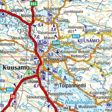 FINLANDIA PÓŁNOCNA 1:400 000 mapa Karttakeskus 2019 (2)