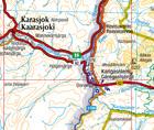 FINLANDIA PÓŁNOCNA 1:400 000 mapa Karttakeskus 2019 (3)